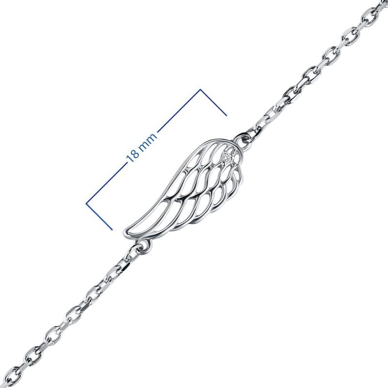 Браслет из серебра с бриллиантом э0601бр07178300 (фото 3)