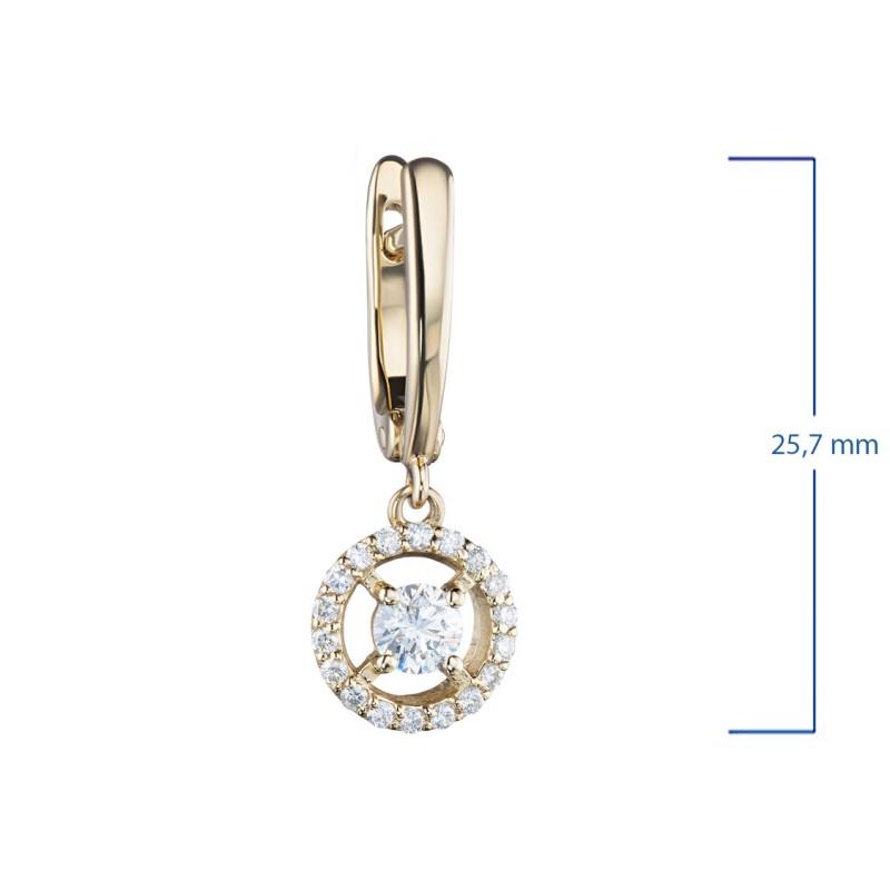 Серьги из желтого золота с бриллиантами э0301сг04210018 (фото 2)