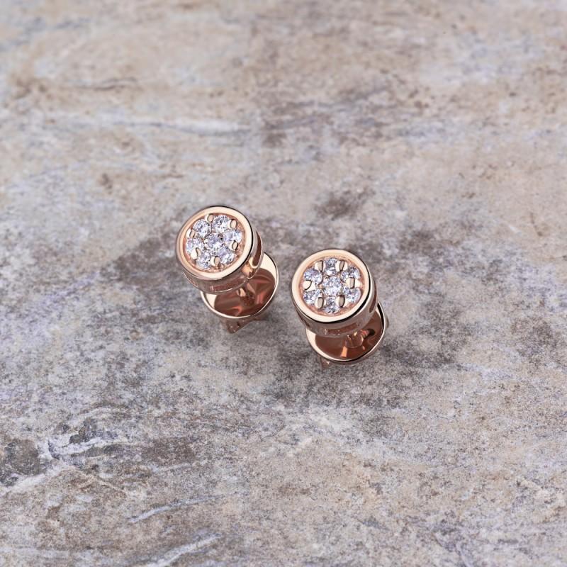 Пусеты из красного золота с бриллиантами э0201пс12152700 (фото 4)