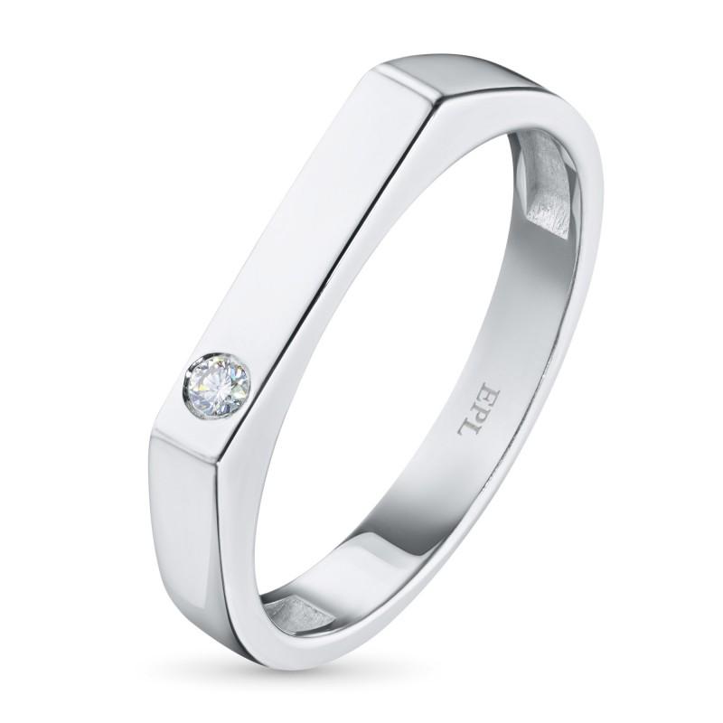 Кольцо из серебра с бриллиантом э0601кц04200718