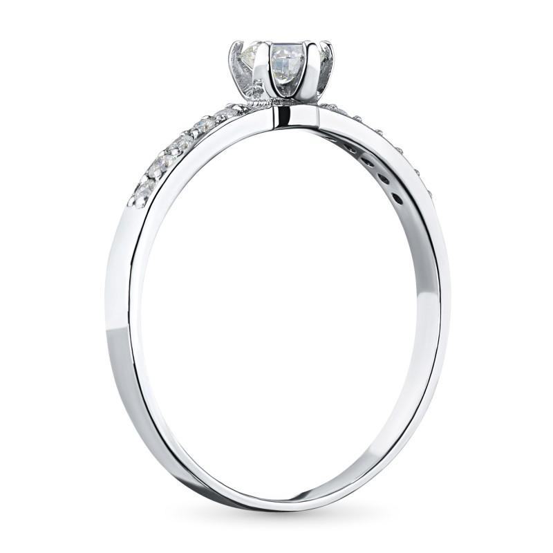 Кольцо из белого золота с бриллиантами э0901кц01159900 (фото 4)