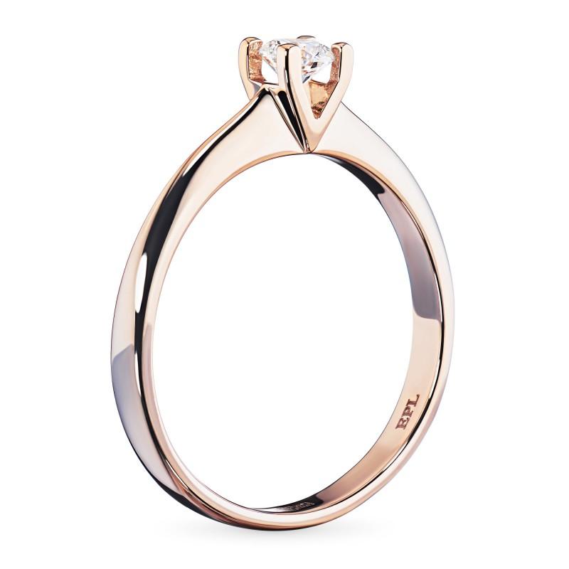 Кольцо из красного золота с бриллиантом э0201кц04203137 (фото 4)