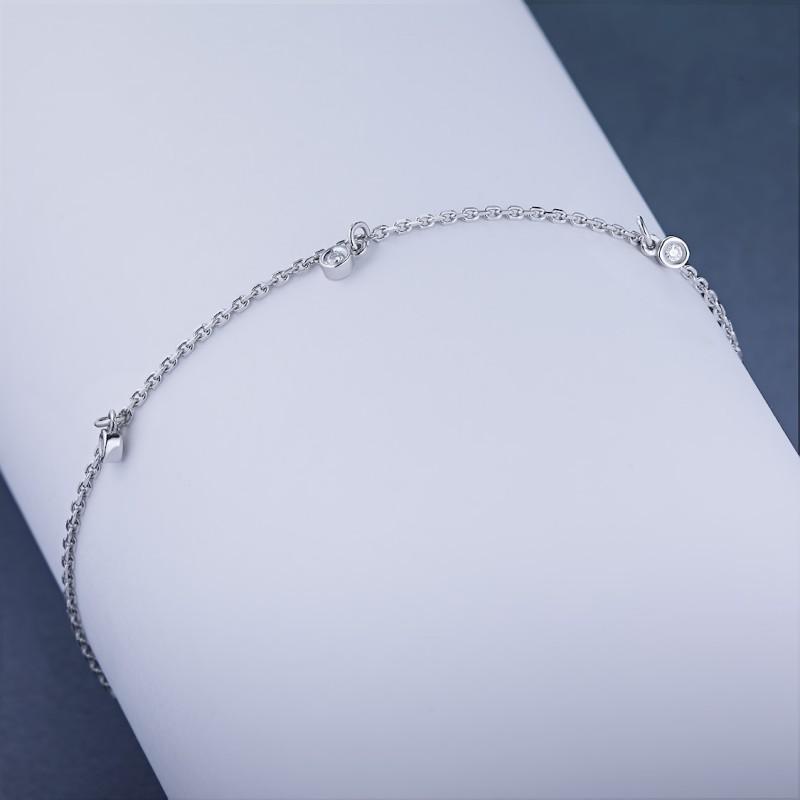 Браслет из белого золота с бриллиантом э0901бр05180300 (фото 4)