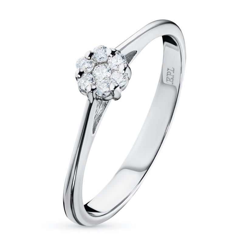 Кольцо из белого золота с бриллиантами э0901кц10134800