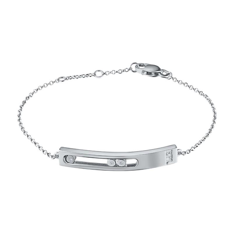 Браслет из серебра с бриллиантом э0601бр03181400