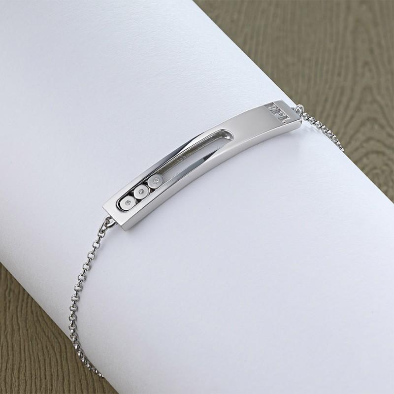 Браслет из серебра с бриллиантом э0601бр03181400 (фото 4)