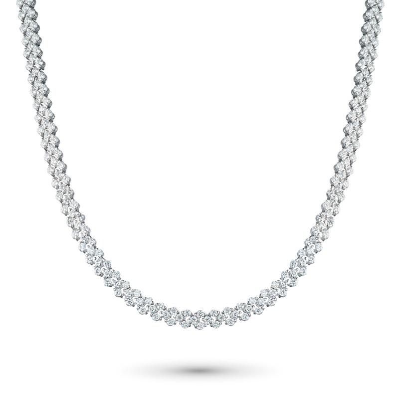 Колье из белого золота с бриллиантом э0901кл12200909
