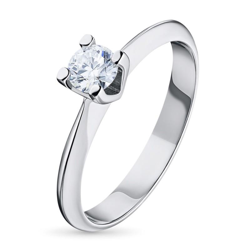 Кольцо из белого золота с бриллиантом э0901кц04203137