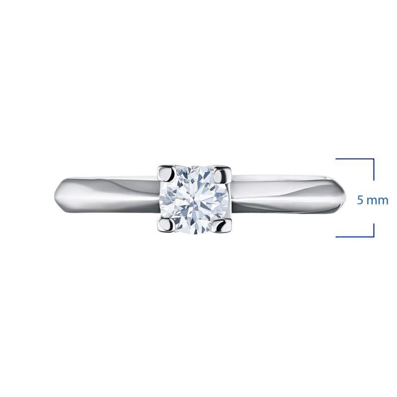 Кольцо из белого золота с бриллиантом э0901кц04203137 (фото 2)