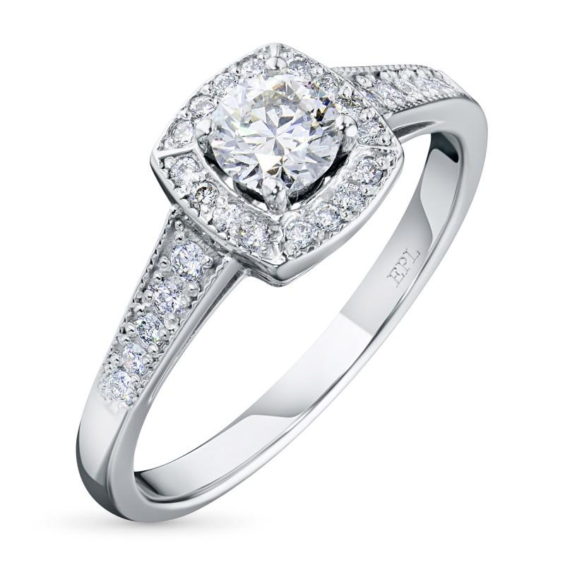 Кольцо из белого золота с бриллиантами э0901кц11160500