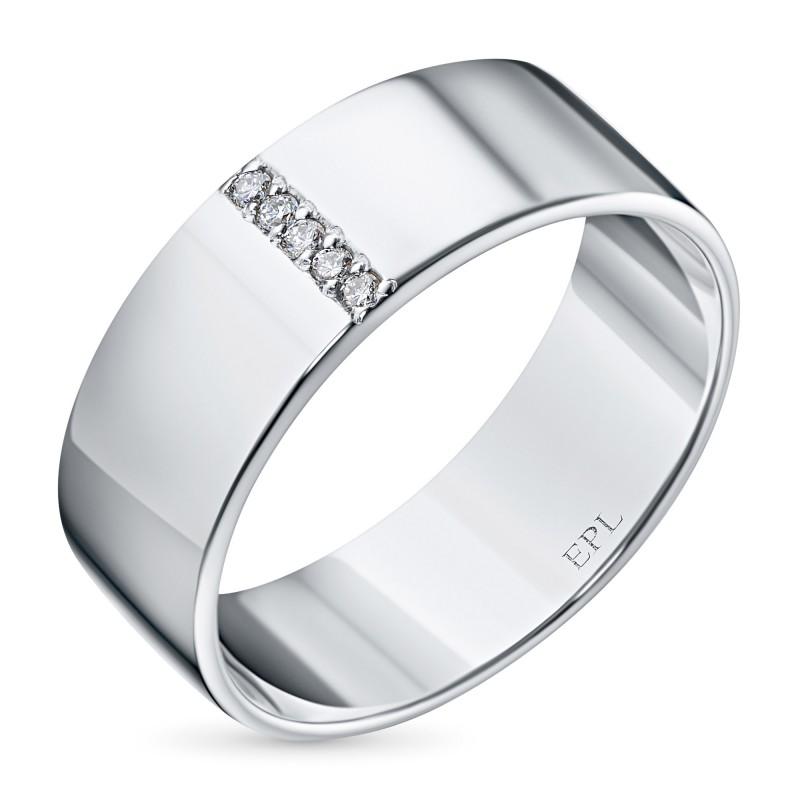 Кольцо из серебра с бриллиантом э0601кц10153600