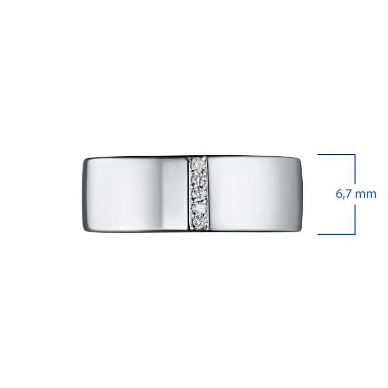 Кольцо из серебра с бриллиантом э0601кц10153600 (фото 3)