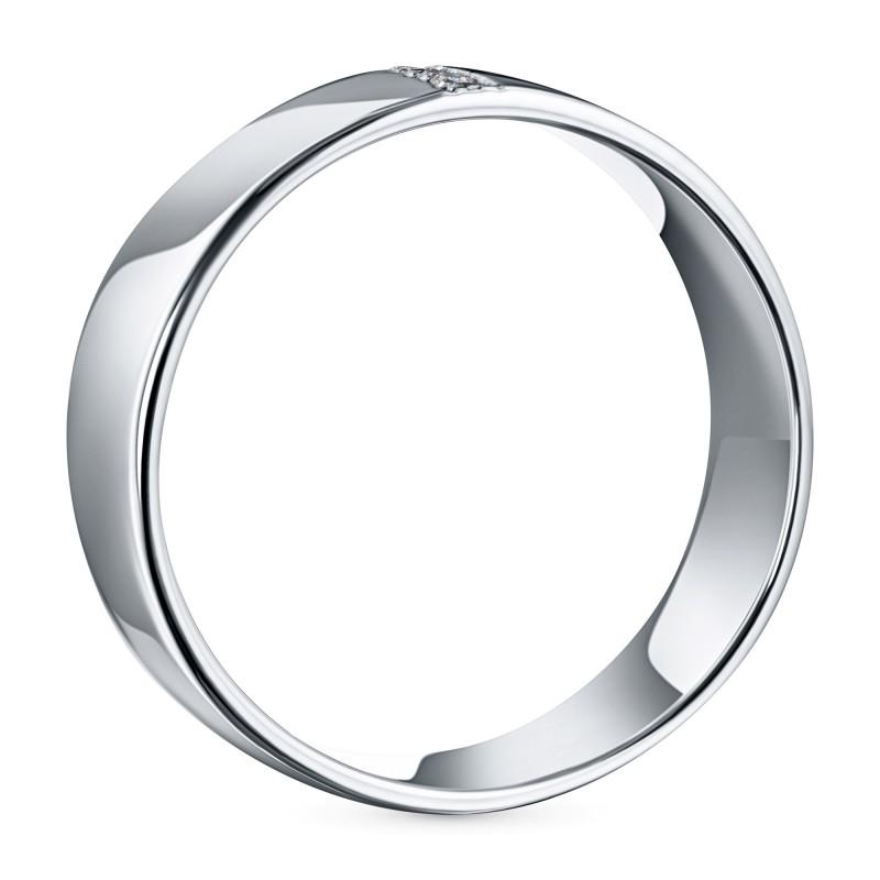 Кольцо из серебра с бриллиантом э0601кц10153600 (фото 4)