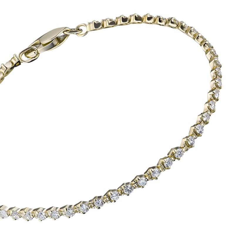 Браслет из желтого золота с бриллиантами э0301бр04184700 (фото 2)