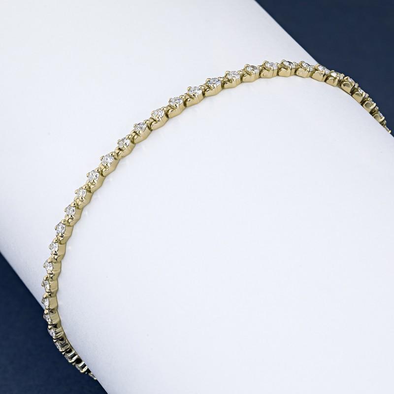 Браслет из желтого золота с бриллиантами э0301бр04184700 (фото 4)