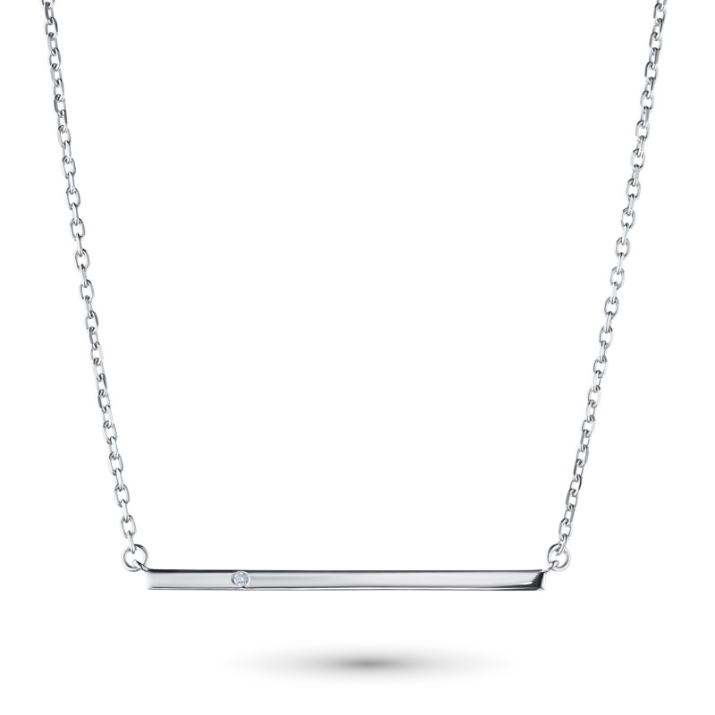 Колье из серебра с бриллиантом э0601кл11181600