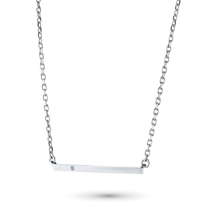 Колье из серебра с бриллиантом э0601кл11181600 (фото 2)