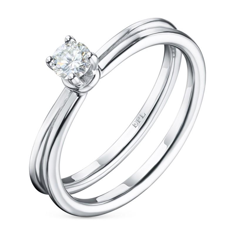 Кольцо из белого золота с бриллиантом э0901кц07210865