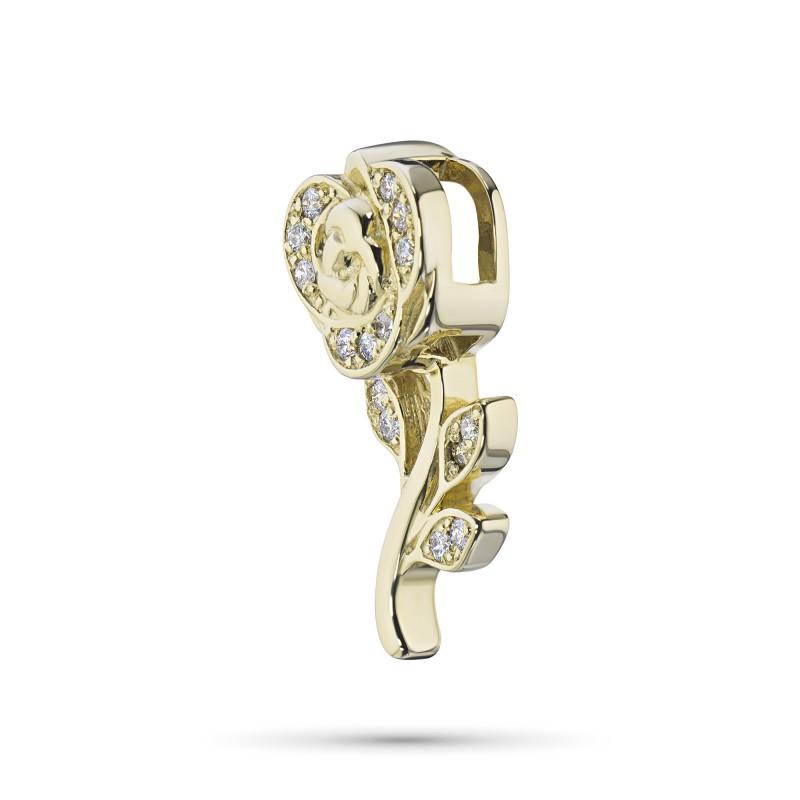 Подвеска из желтого золота с бриллиантом э0301пд05180200 (фото 2)