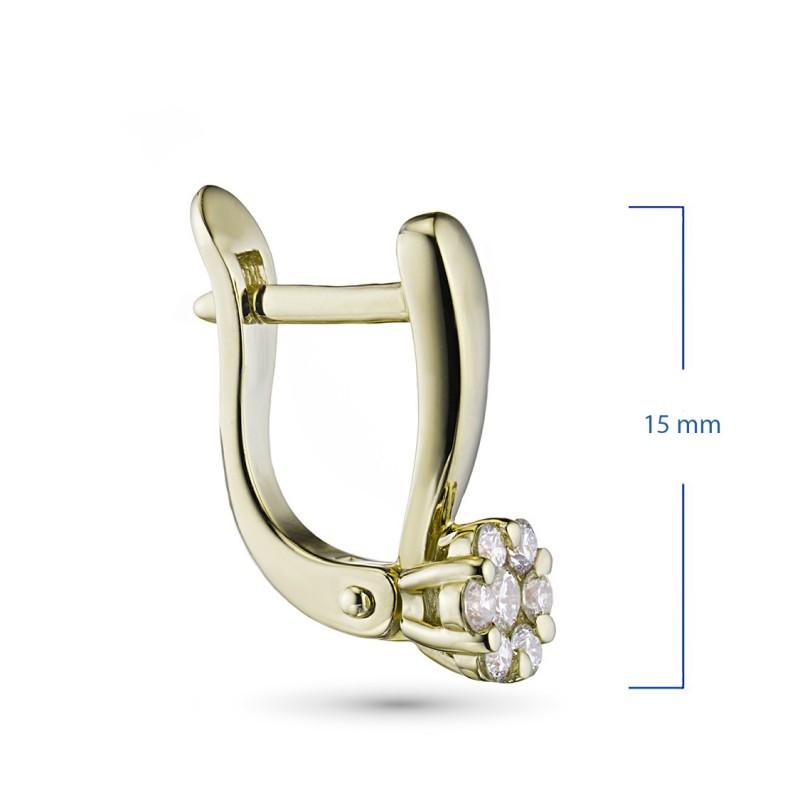 Серьги из желтого золота с бриллиантами э0301сг04152800 (фото 2)