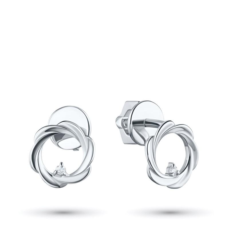 Пусеты из серебра с бриллиантом э0601пс04201593