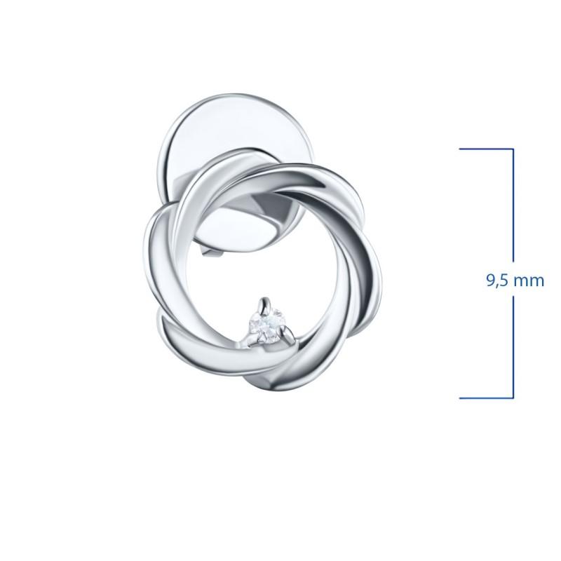 Пусеты из серебра с бриллиантом э0601пс04201593 (фото 2)