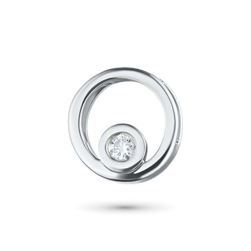 Подвеска из серебра с бриллиантом э0601пд05114600