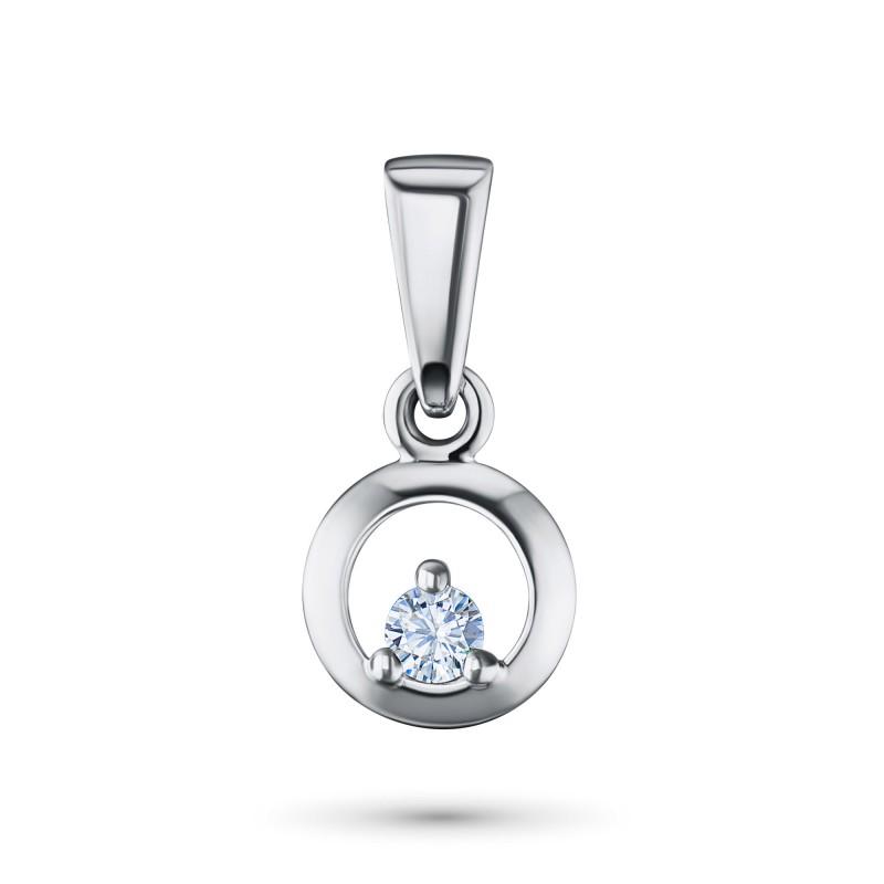 Подвеска из серебра с бриллиантом э0601пд06159500