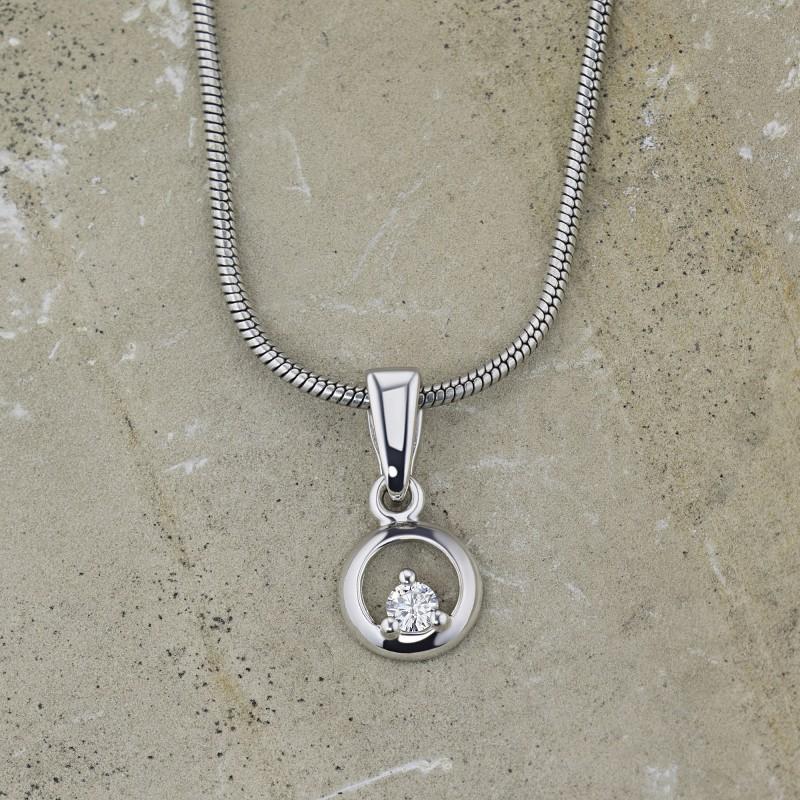 Подвеска из серебра с бриллиантом э0601пд06159500 (фото 4)
