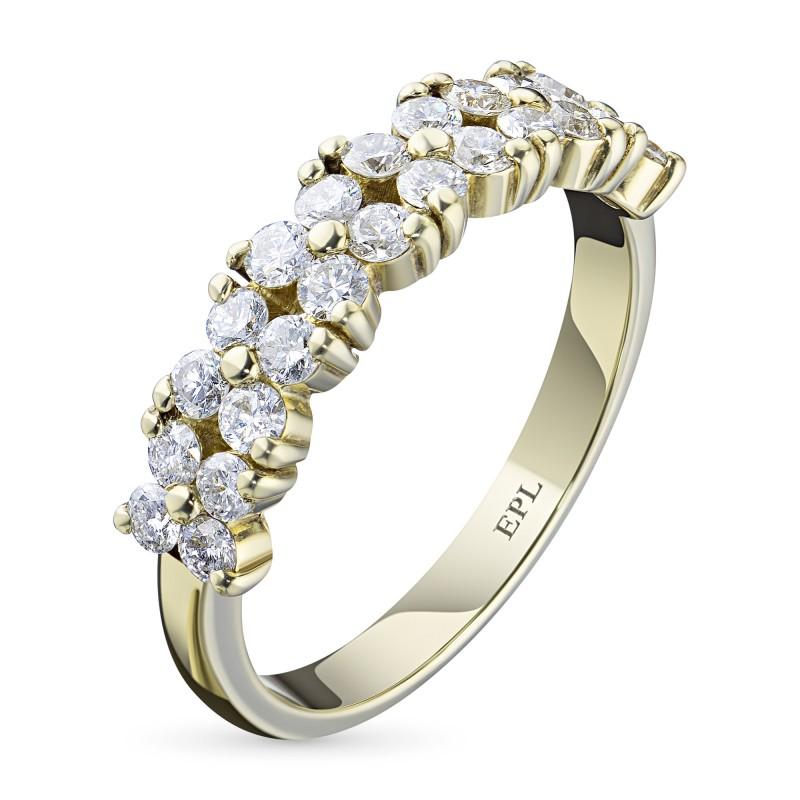 Кольцо из желтого золота с бриллиантом э0301кц07173700