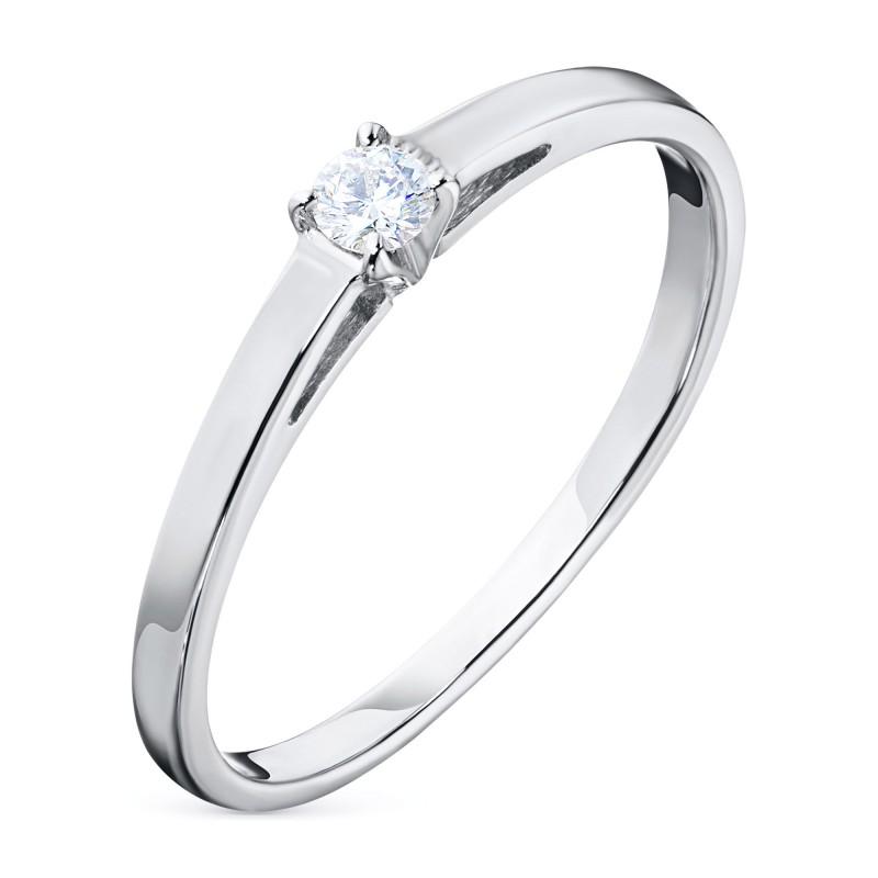 Кольцо из белого золота с бриллиантом э0901кц02159500