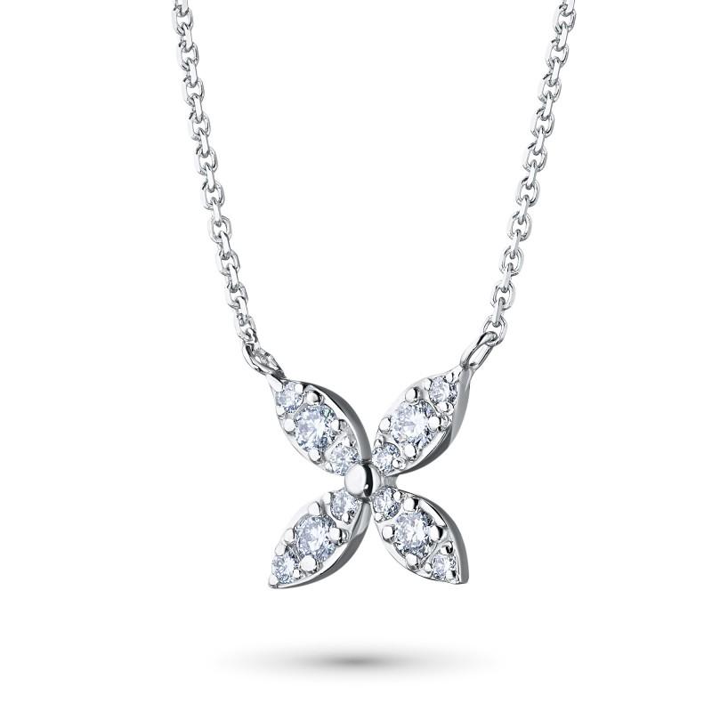 Колье из белого золота с бриллиантами э0901кл04194500 (фото 2)