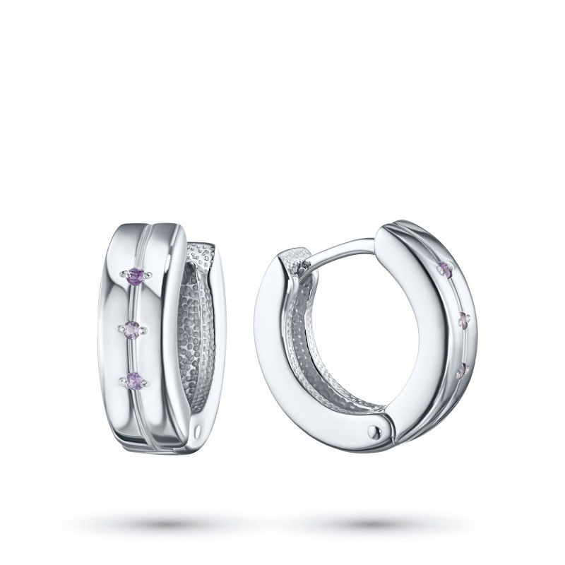 Серьги из серебра с аметистом э0607сг03152900