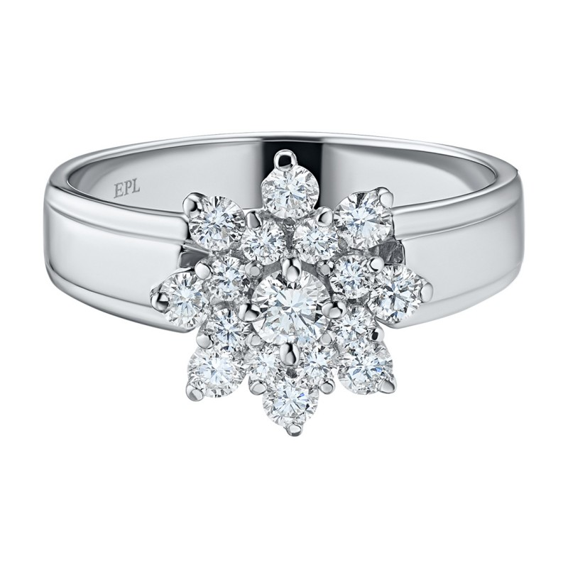 Кольцо из белого золота с бриллиантами э0901кц09160400 (фото 3)