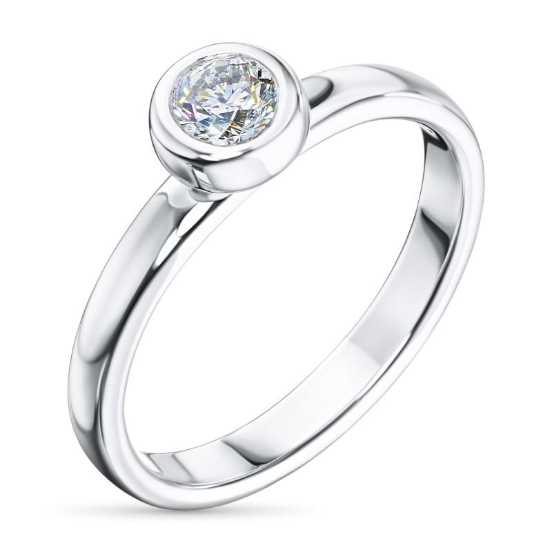 Кольцо из белого золота с бриллиантом э0901кц08210872