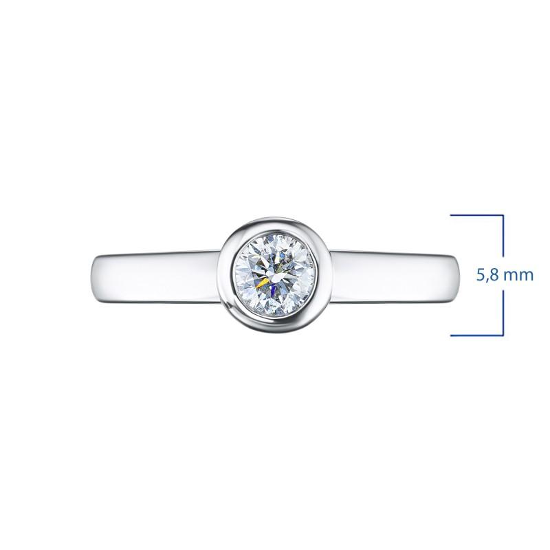 Кольцо из белого золота с бриллиантом э0901кц08210872 (фото 3)