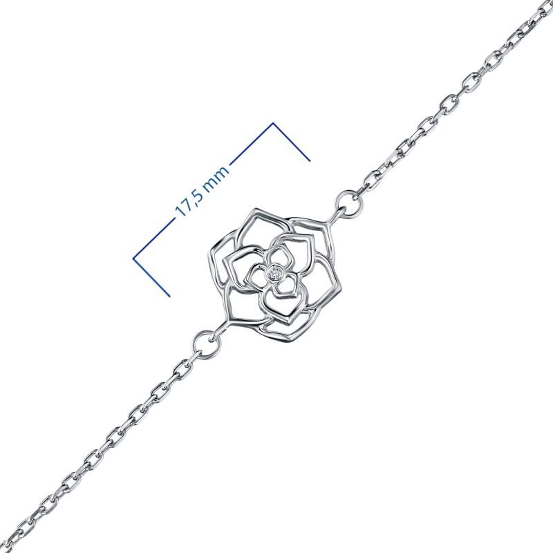 Браслет из серебра с бриллиантом э0601бр07184800 (фото 3)