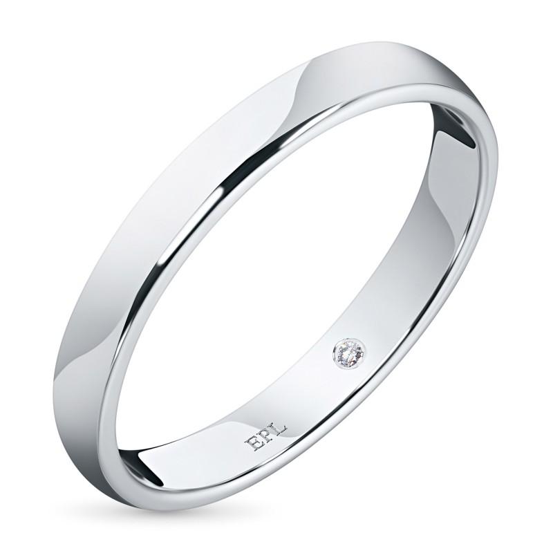 Кольцо из белого золота с бриллиантом э0901кц05152000