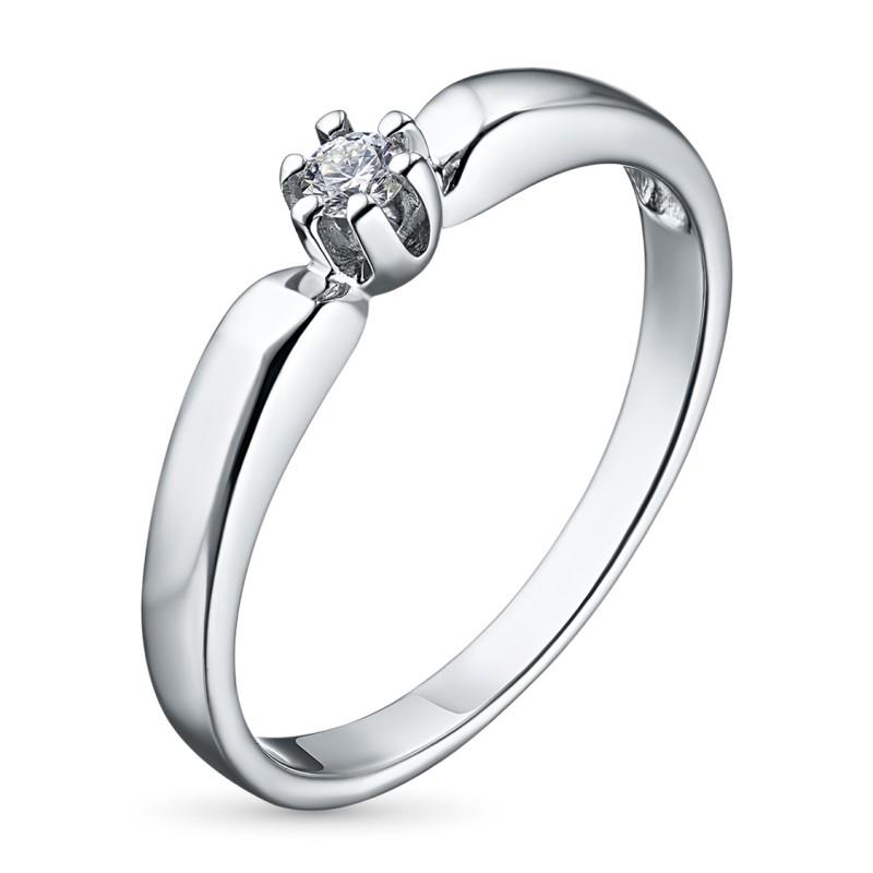 Кольцо из серебра с бриллиантом э0601кц05151500