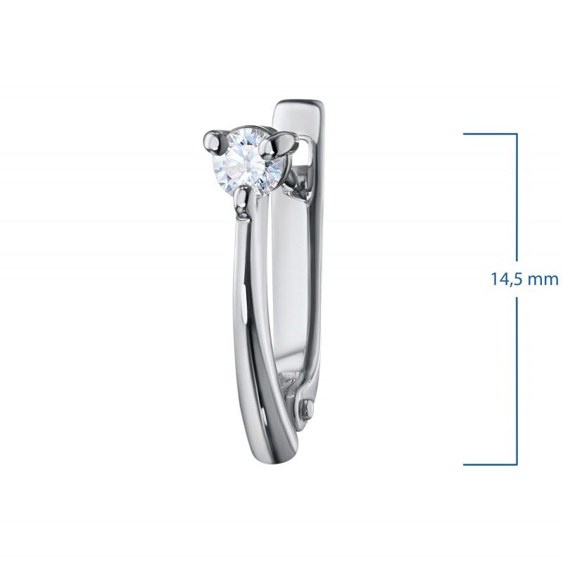 Серьги из белого золота с бриллиантами э0901сг08200107 (фото 3)
