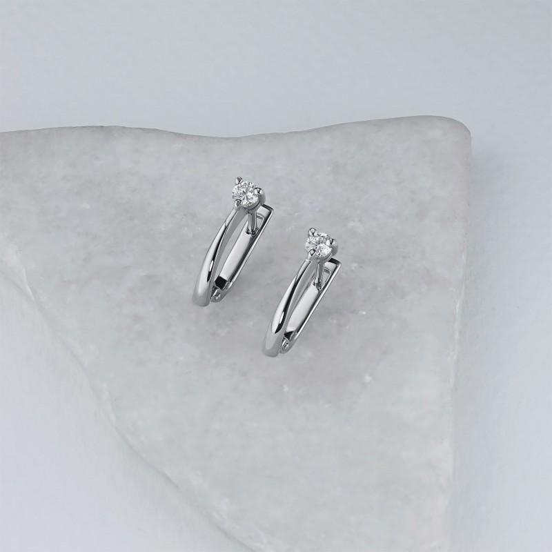 Серьги из белого золота с бриллиантами э0901сг08200107 (фото 4)