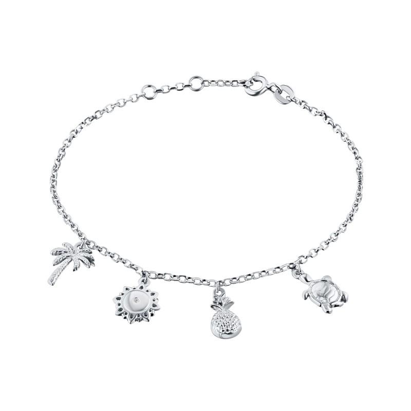 Браслет из серебра с бриллиантом э0601бр08180300