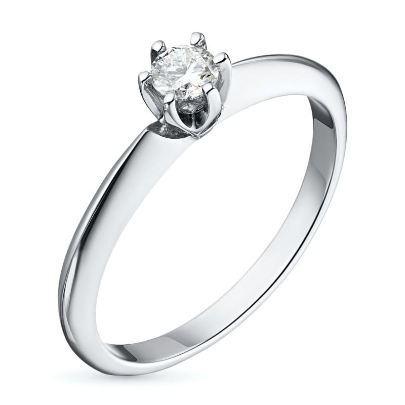 Кольцо из белого золота с бриллиантом э0901кц05153100