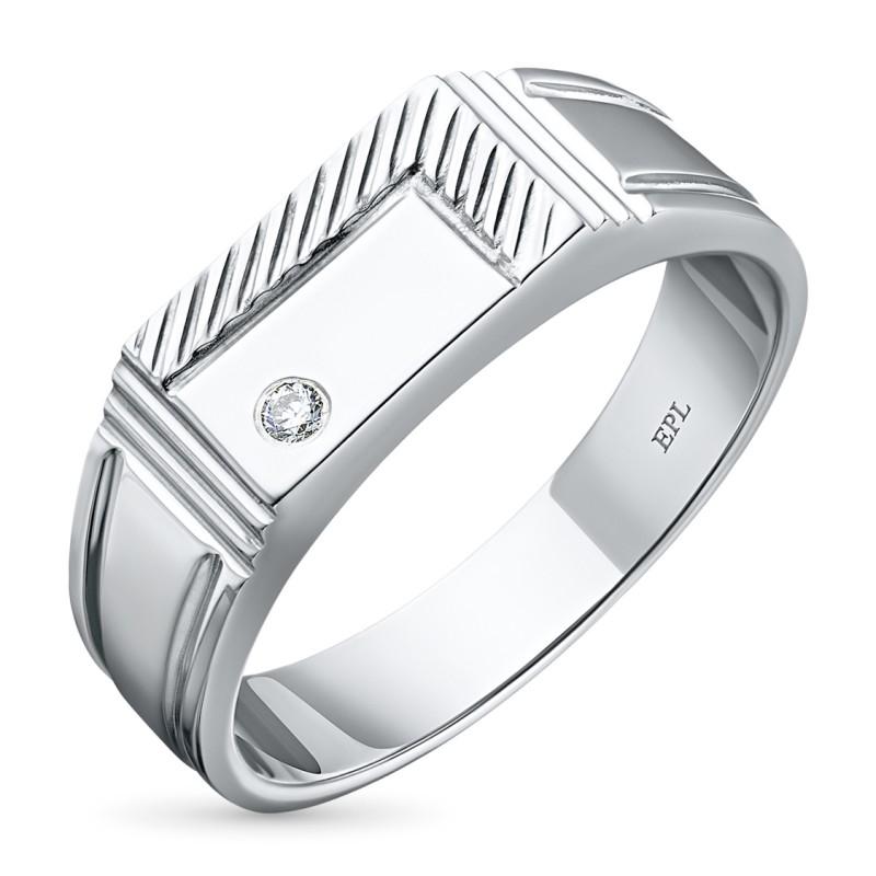 Кольцо из серебра с бриллиантом э0601кц02182400