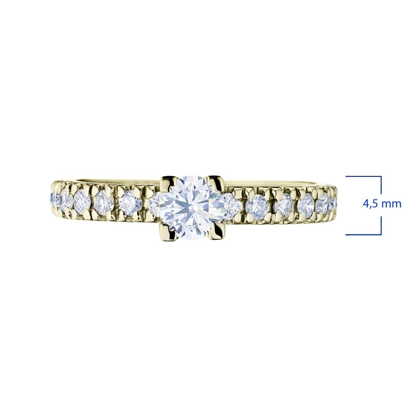 Кольцо из белого золота с бриллиантами э0901кц01144400 (фото 2)